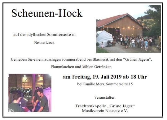 Scheunenhock - Einladung